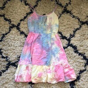 $99 NWT Aqua Tie-Dye summer dress small